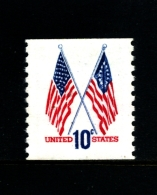 UNITED STATES/USA - 1973  10c.  FLAGS COIL PERF. 10 VERT  MINT NH - Unused Stamps