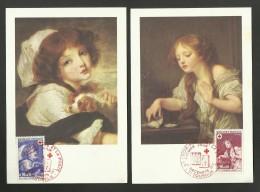 N° 1700/01 - Croix Rouge /  Lot 2 Cartes Maxi. / 71 - TOURNUS - 1970-79