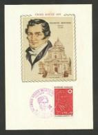 N° 1736 - Croix Rouge /  Carte Maximum Sur Soie / 70 - LUXEUIL LES BAINS - 1970-79
