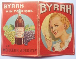 -- PETITE PUBLICITE BYRRH - TAFFETAS D'ANGLETERRE A L'INTERIEUR -- - Alcools