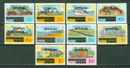 Nevis 1980  Overprinted OFFICIAL Set Of 10   MNH - St.Christopher-Nevis-Anguilla (...-1980)