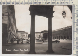 TORINO PIAZZA SAN CARLO  1957  VG - Places & Squares