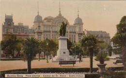 Argentina Buenos Aires Plaza Libertad Estatua del Dr Alsina Teat