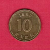 KOREA---South   10 WON 1999 (KM # 33.1) - Korea, South