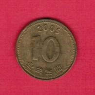 KOREA---South   10 WON 2005 (KM # 33.1) - Korea, South