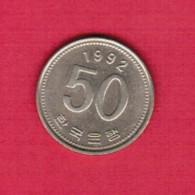 KOREA---South   50 WON 1992 (KM # 34) - Korea, South