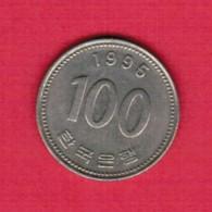 KOREA---South  100 WON 1995 (KM # 35.2) - Korea, South