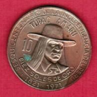 PERU  10 SOLES 1971 (KM # 255) - Peru