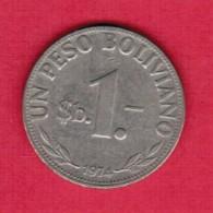 BOLIVIA  1 PESO 1974 (KM # 192) - Bolivia