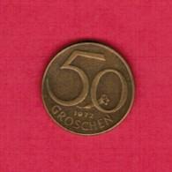 AUSTRIA  50 GROSCHEN 1972 (KM # 2885) - Austria