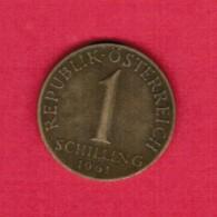 AUSTRIA  1 SCHILLING 1961 (KM # 2886) - Austria