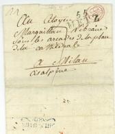 LALANCE, Alexandre (1771-1822) - Général - Metz à Milano - Déboursé Armée De Service DAS 1801 - Marcophilie (Lettres)
