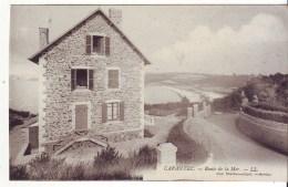 Cpa   Carantec  Route De La Mer - Carantec