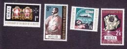 Malta, Scott #387-390, Mint Hinged, 40th Anniversary Of The Death Of Valette, Issued 1968 - Malta