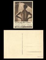 B)1940 GERMANY, SUN LAMP,  WOMEN, NUDE,  ARTIFICIAL SUNLAMPS, LIFE ABILITY TO MEET, ORIGINAL HANAU, UNUSED, POSTACARD - Germany