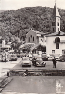 09 - Ax Les Thermes : Eglise Saint-Vincent - Voitures Dans La Ville - 2CV Citroën, ... - CPM écrite - Ax Les Thermes