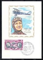 FRANCE 1972, CARTE MAXIMUM YVERT Nº P.A. 47. MARYSE HILSZ  CM.-88 - Cartas Máxima