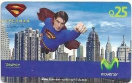 Guatemala - Telefonica Movistar - Superman 1 - GSM Refill, Used - Guatemala