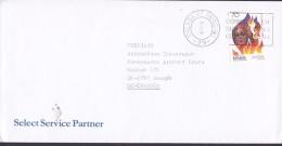 Spain SELECT SERVICE PARTNER Slogan Flamme MALAGA 1998 Cover Letra Denmark Europa CEPT - 1931-Heute: 2. Rep. - ... Juan Carlos I
