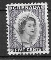 1954 Queen Elizabeth, 5 Cents, Used - Grenada (...-1974)