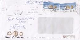 Spain HOTEL LOS ALAMOS (Umma Hotels), MALAGA 1998 Cover Letra VERY IMPORTANT 2x ATM / Frama Labels Schiff Ship - Poststempel - Freistempel