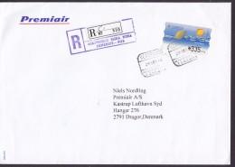 Spain PREMIAIR Registered Certificado Label AEROPUERTO Reina Sofia TENERIFE 1998 Cover Letra ATM / Frama Naturaleza - Poststempel - Freistempel