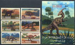 162 SAINT VINCENT Grenadines 2001 - Faune Dinosaure Prehistoire (Yvert 4299/304 BF 513) Neuf ** (MNH) Sans Charniere - St.Vincent Y Las Granadinas