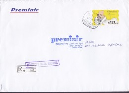 Spain PREMIAIR Registered Certificado Label AEROPUERTO PALMA MALLORCA 1997 Cover Letra ATM / Frama Cervantes - Poststempel - Freistempel