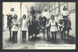 CPA - BRUXELLES - 75e Anniversaire - Grand Tournoi Historique - Corneille , Batârd De Bourgogne ... Pages Et Valets   // - Fêtes, événements