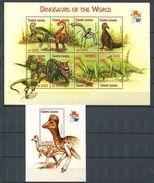 162 SIERRA LEONE 2001 - Faune Dinosaure Prehistoire (Yvert 3257/64 - BF 484) Neuf ** (MNH) Sans Trace De Charniere - Sierra Leone (1961-...)