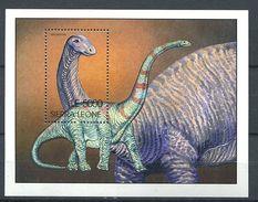 162 SIERRA LEONE 2001 - Faune Dinosaure Prehistoire (Yvert BF 518) Neuf ** (MNH) Sans Trace De Charniere - Sierra Leone (1961-...)