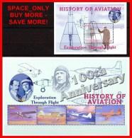 GHANA 2003   GODDARD & WRIGHT BRS S/S + M/S (BLOCK + KLEINBOGEN ) SC#2385-86 MNH **  Neuf  POSTFRISCH PLANES & SPACE - Space