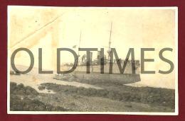 GUINE BISSAU - ILHA DE BOLAMA - LOTE 2PCS - CRUZADOR ADAMASTOR ENCALHADO - 1920 REAL PHOTO - Foto