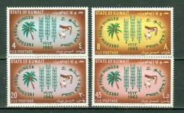 Kuwait 1963  Yv 184/187**, Sc 193/196**, Mi 183/186** , MNH - Koweït