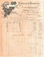 Beau Document Du 10/11/1909 DEVOUASSOUD Fabrique De Sonnettes - Chamonix 74 Haute-Savoie - Scans 2 Faces - France