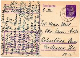 "Germany 1944, Bremen "" Der Fuhrer Kennt Nur Kampf, Arbeit Und Sorge....""  Hitler Postal Stationery Card 6 Rpfg - Covers & Documents"