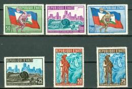 Haiti 1959  Yv 420/422**, PA 173/175**, Mi 580/585** , MNH - Haïti