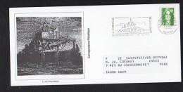 """1992 Flamme Sécap Le Mont St Michel  """"Le Mont St Michel""""  Sur Briat,repiquage Le Mont Saint Michel  ...sur Carte - Mechanical Postmarks (Advertisement)"""