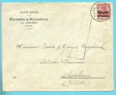 BZ 3 Op Brief Met Stempel LA LOUVIERE, Hoofding BRASSERIE DE MAUGRETOUT / LA LOUVIERE  (HOCQUET) - WW I