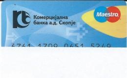 Credit Cards,Bank Card Maestro Macedonia - Geldkarten (Ablauf Min. 10 Jahre)
