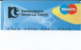 Credit Cards,Bank Card Maestro Macedonia - Cartes De Crédit (expiration Min. 10 Ans)