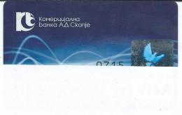 Credit Cards,Bank Card VISA Macedonia - Cartes De Crédit (expiration Min. 10 Ans)