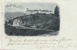 Mondscheinlitho Gruss Aus LAIBACH - Gel.1898, Ecken Bestossen - Slowenien