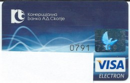 Credit Cards,Bank Card VISA Macedonia - Geldkarten (Ablauf Min. 10 Jahre)