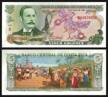 Costa Rica 5 COLONES 24.1.1990 P 236e UNC - Costa Rica