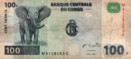 Billet 100 Francs Banque Centrale Du CONGO  04-01-2000 - Zonder Classificatie