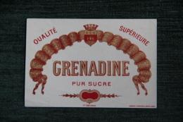 """ETIQUETTE """" GRENADINE """". - Autres"""