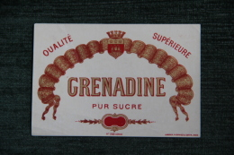 "ETIQUETTE "" GRENADINE "". - Other"