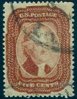 # United States   27,  Used,Brick Red.    RARE  (us027-1.    [16-AFNM - Used Stamps