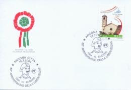 Italia 2004 Annullo Speciale Su Cartoncino Ancona 60° Della Liberazione Della Città Da Parte Del Generale Anders - WW2 (II Guerra Mundial)